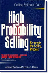 image of the front cover of the book, High Probability Selling